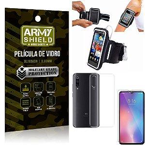Kit Braçadeira Xiaomi Mi 9 SE Braçadeira Corrida + Película Vidro + Capa Silicone - Armyshield