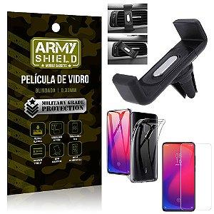 Kit Suporte Veicular Xiaomi Redmi K20 Mi 9T Suporte Veicular + Película Vidro +Capa TPU - Armyshield