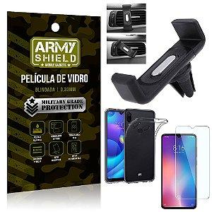 Kit Suporte Veicular Xiaomi Redmi Note 7 Suporte Veicular + Película Vidro + Capa TPU - Armyshield