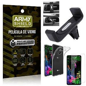 Kit Suporte Veicular LG G8S Suporte Veicular + Película Vidro + Capa TPU - Armyshield
