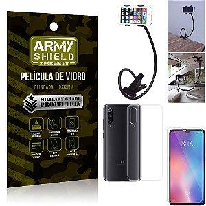 Kit Suporte Flexivel Xiaomi Mi 9 SE Suporte + Película Vidro + Capa Silicone - Armyshield