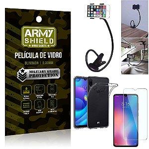 Kit Suporte Flexivel Xiaomi Redmi Note 7 Suporte + Película Vidro + Capa Silicone - Armyshield