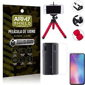 Kit Mini Tripé Xiaomi Mi 9 SE Mini Tripé + Película Vidro + Capa Silicone - Armyshield