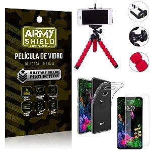 Kit Mini Tripé LG G8S Mini Tripé + Película Vidro + Capa Silicone - Armyshield