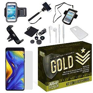 Kit Gold Xiaomi Mi Mix 3 com 8 Acessórios - Armyshield