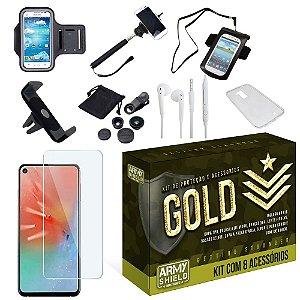 Kit Gold Samsung A60 com 8 Acessórios - Armyshield
