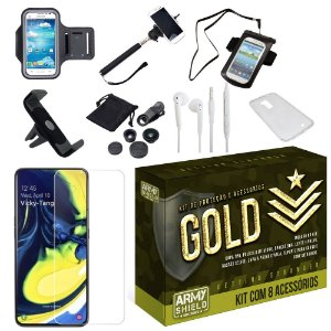 Kit Gold Samsung A80 com 8 Acessórios - Armyshield