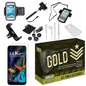 Kit Gold LG K12 Max com 8 Acessórios - Armyshield