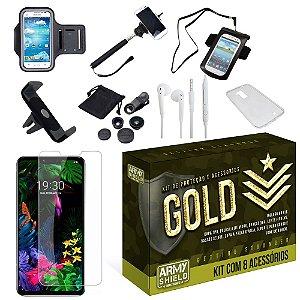 Kit Gold LG G8S com 8 Acessórios - Armyshield