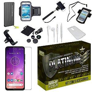 Kit Platinum Tipo C Motorola One Vision com 9 Acessórios - Armyshield
