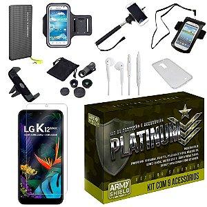 Kit Platinum LG K12 Max com 9 Acessórios - Armyshield