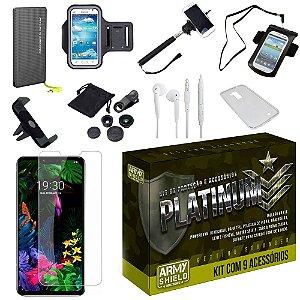 Kit Platinum Tipo C LG G8S com 9 Acessórios - Armyshield