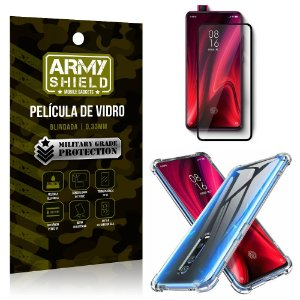 Kit Full Protection Xiaomi Redmi K20 Mi 9T Película de Vidro 3D + Capa Anti Impacto - Armyshield
