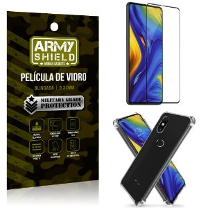 Kit Full Protection Xiaomi Mi Mix 3 Película de Vidro 3D + Capa Anti Impacto - Armyshield
