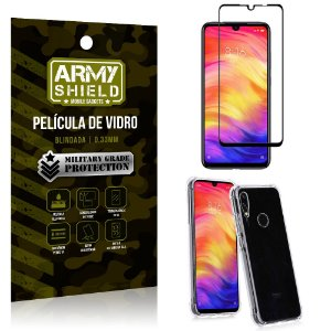 Kit Full Protection Xiaomi Redmi Note 7 Película de Vidro 3D + Capa Anti Impacto - Armyshield