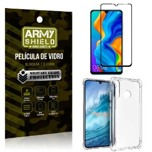Kit Full Protection Huawei P30 Lite Película de Vidro 3D + Capa Anti Impacto - Armyshield