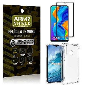 Kit Full Protection Huawei P30 Lite Película de Vidro 3D + Capa Anti Impacto - Armyshield