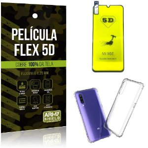 Kit Flex Protection Xiaomi Mi 9 SE Película Flex 5D Tela Toda + Capa Anti Impacto - Armyshield