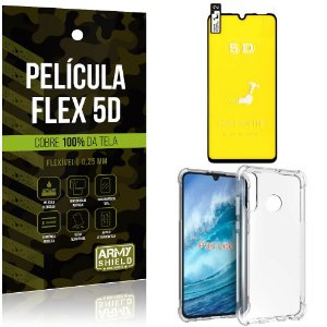 Kit Flex Protection Huawei P30 Lite Película Flex 5D Tela Toda + Capa Anti Impacto - Armyshield