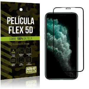 Película Flex 5D Apple iPhone 11 Pro Max 6.5 Cobre a Tela Toda - Armyshield