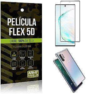 Capa Anti Impacto Note 10 Plus + Película Flex 5D Cobre toda tela - Armyshield