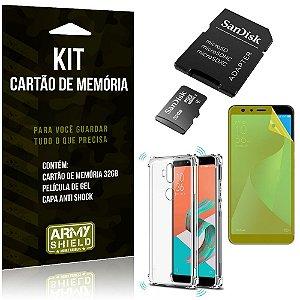 Kit Zenfone 5 Selfie Pro ZC600KL Cartão Memória 32 GB +Capinha Antishock + Película Gel - Armyshield