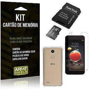 Kit LG K9 Cartão Memória 32 GB + Capinha Antishock + Película Vidro - Armyshield