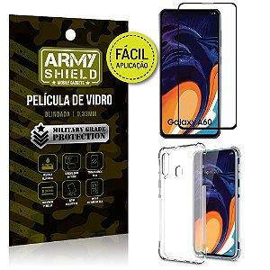 Kit Película 3D Fácil Aplicação Samsung Galaxy A60 Película 3D + Capa Anti Impacto - Armyshield