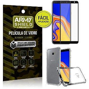 Kit Película 3D Fácil Aplicação Galaxy J4 Plus (2018) Película 3D + Capa Anti Impacto - Armyshield