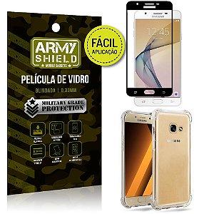 Kit Película 3D Fácil Aplicação Galaxy J5 Prime Película 3D + Capa Anti Impacto - Armyshield