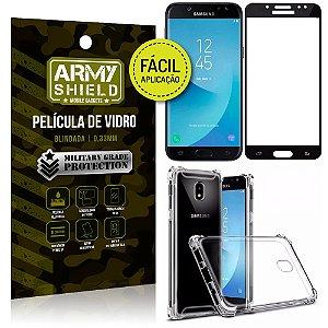 Kit Película 3D Fácil Aplicação Galaxy J5 Pro (2017) Película 3D + Capa Anti Impacto - Armyshield