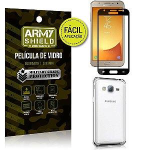Kit Película 3D Fácil Aplicação Galaxy J7 Neo (2017) Película 3D + Capa Anti Impacto - Armyshield
