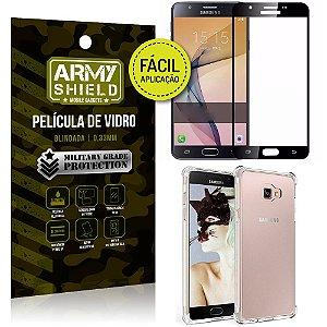 Kit Película 3D Fácil Aplicação Galaxy J7 Prime Película 3D + Capa Anti Impacto - Armyshield