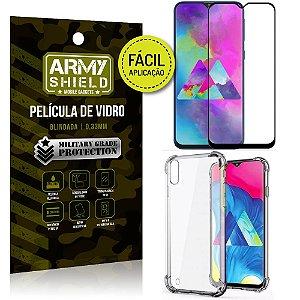 Kit Película 3D Fácil Aplicação Samsung Galaxy M10 Película 3D + Capa Anti Impacto - Armyshield