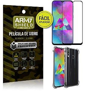 Kit Película 3D Fácil Aplicação Samsung Galaxy M20 Película 3D + Capa Anti Impacto - Armyshield