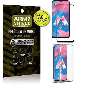 Kit Película 3D Fácil Aplicação Samsung Galaxy M30 Película 3D + Capa Anti Impacto - Armyshield