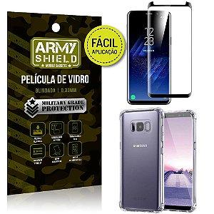 Kit Película 3D Fácil Aplicação Samsung Galaxy S8 Película 3D + Capa Anti Impacto - Armyshield