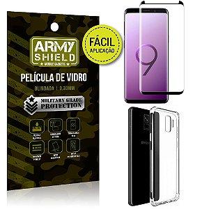 Kit Película 3D Fácil Aplicação Samsung Galaxy S9 Película 3D + Capa Anti Impacto - Armyshield