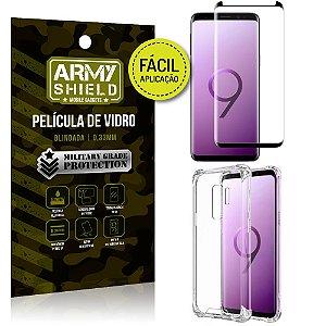 Kit Película 3D Fácil Aplicação Samsung Galaxy S9 Plus Película 3D + Capa Anti Impacto - Armyshield