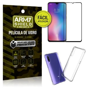 Kit Película 3D Fácil Aplicação Xiaomi Mi 9 SE Película 3D + Capa Anti Impacto - Armyshield