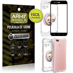 Kit Película 3D Fácil Aplicação Xiaomi Mi A1 (Mi 5X) Película 3D + Capa Anti Impacto - Armyshield