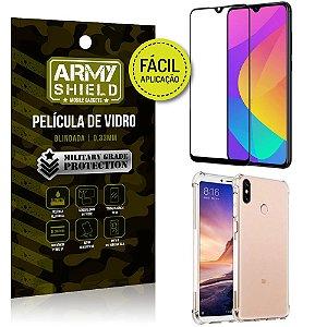 Kit Película 3D Fácil Aplicação Xiaomi Mi A3 (CC9e) Película 3D + Capa Anti Impacto - Armyshield