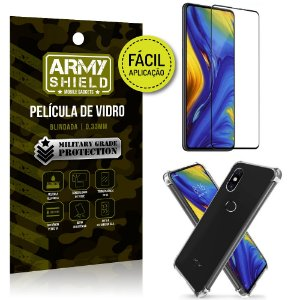 Kit Película 3D Fácil Aplicação Xiaomi Mi Mix 3 Película 3D + Capa Anti Impacto - Armyshield