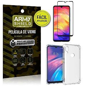Kit Película 3D Fácil Aplicação Xiaomi Redmi 7 Película 3D + Capa Anti Impacto - Armyshield
