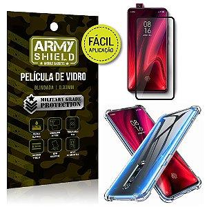Kit Película 3D Fácil Aplicação Xiaomi Redmi K20 Mi 9T Película 3D + Capa Anti Impacto - Armyshield