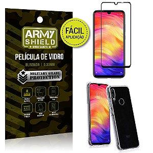 Kit Película 3D Fácil Aplicação Xiaomi Redmi Note 7 Pro Película 3D + Capa Anti Impacto - Armyshield