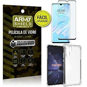 Kit Película 3D Fácil Aplicação Huawei P30 Pro Película 3D + Capa Anti Impacto - Armyshield
