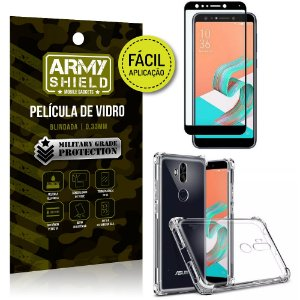 Kit Película 3D Fácil Aplicação Zenfone 5 Selfie Pro ZC600KL + Capa Anti Impacto - Armyshield