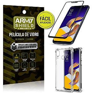Kit Película 3D Fácil Aplicação Zenfone 5Z ZS620KL Película 3D + Capa Anti Impacto - Armyshield