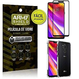 Kit Película 3D Fácil Aplicação LG G7 Película 3D + Capa Anti Impacto - Armyshield